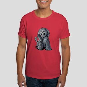 KiniArt Black Doodle Dog Dark T-Shirt