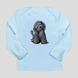 KiniArt Black Doodle Do Long Sleeve Infant T-Shirt