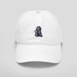 KiniArt Black Doodle Dog Cap