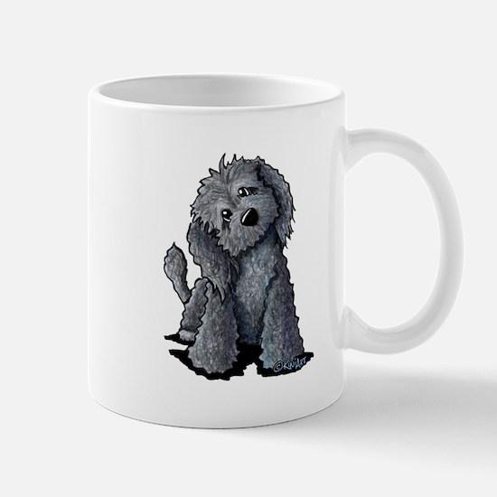 KiniArt Black Doodle Dog Mug