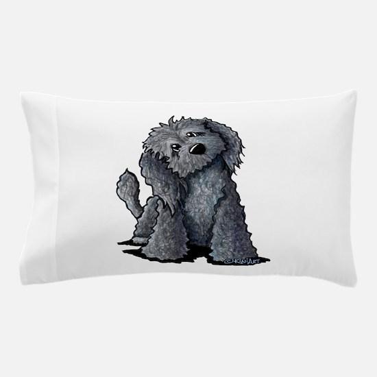 KiniArt Black Doodle Dog Pillow Case