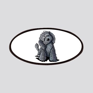 KiniArt Black Doodle Dog Patches