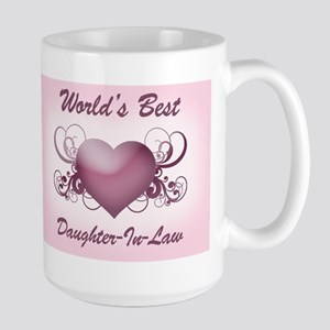 World's Best Daughter-In-Law (Heart) Large Mug