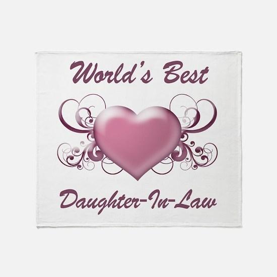 World's Best Daughter-In-Law (Heart) Throw Blanket