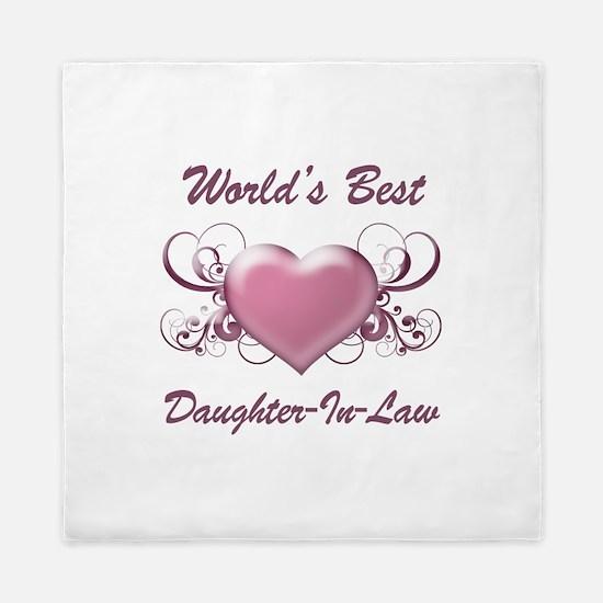 World's Best Daughter-In-Law (Heart) Queen Duvet
