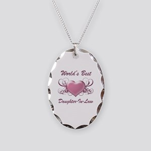 World's Best Daughter-In-Law (Heart) Necklace Oval
