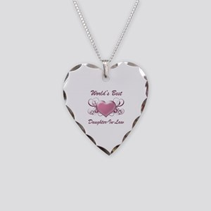World's Best Daughter-In-Law (Heart) Necklace Hear