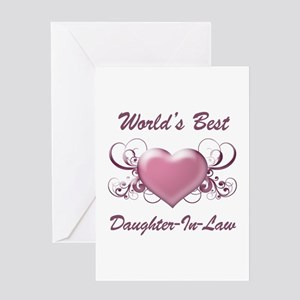World's Best Daughter-In-Law (Heart) Greeting Card