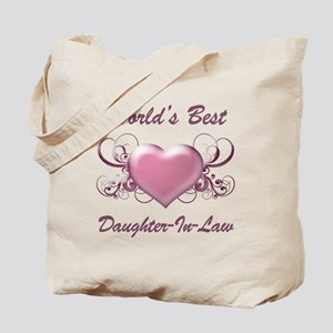 World's Best Daughter-In-Law (Heart) Tote Bag