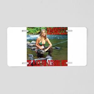 RodandRifleUS Big Catch Aluminum License Plate