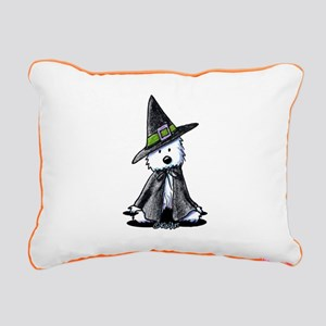 Witchy Westie Rectangular Canvas Pillow