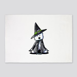 Witchy Westie 5'x7'Area Rug