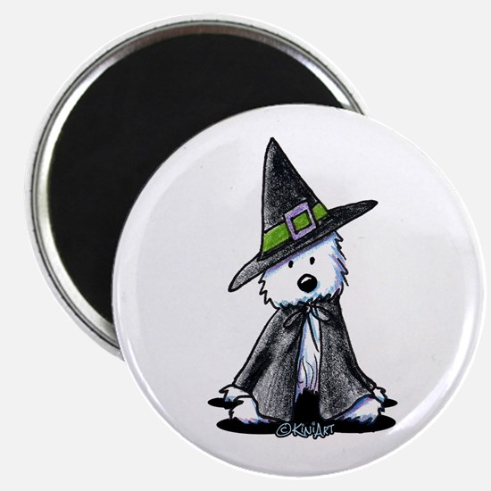 """Witchy Westie 2.25"""" Magnet (10 pack)"""