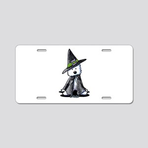Witchy Westie Aluminum License Plate