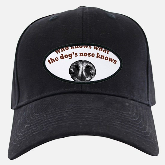 Dogs Nose Knows Baseball Hat