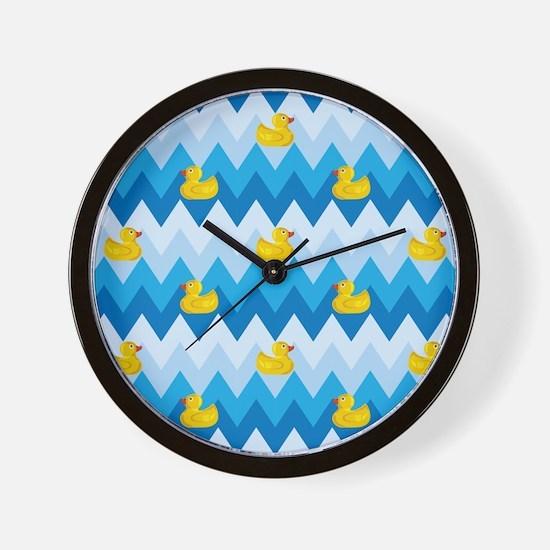 Just Ducky Chevron Pattern Wall Clock