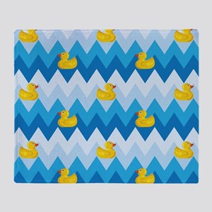 Just Ducky Chevron Pattern Throw Blanket
