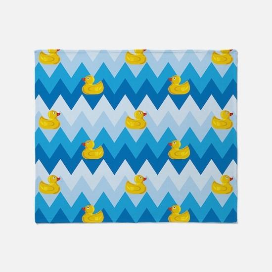 Just Ducky Chevron Pattern Throw Blanket