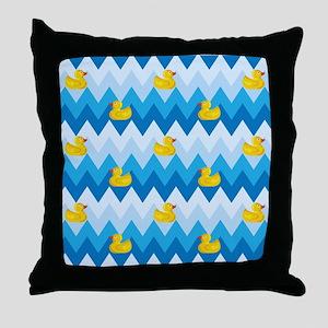 Just Ducky Chevron Pattern Throw Pillow