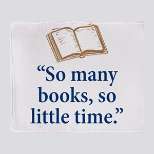 So many books - Throw Blanket