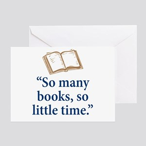 So many books - Greeting Card
