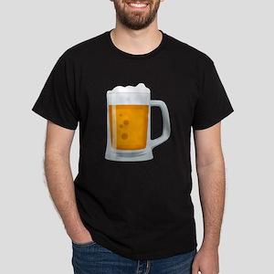 Beer Mug Emoji Dark T-Shirt
