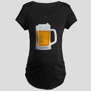 Beer Mug Emoji Maternity Dark T-Shirt