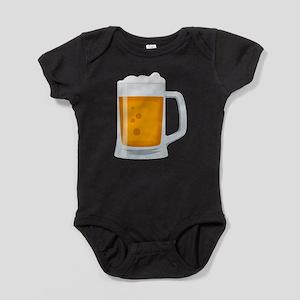 Beer Mug Emoji Baby Bodysuit