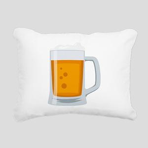 Beer Mug Emoji Rectangular Canvas Pillow
