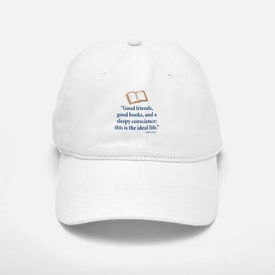 Good Friends, Good Books - Baseball Baseball Cap