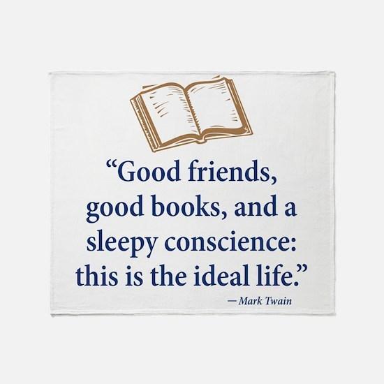 Good Friends, Good Books - Throw Blanket