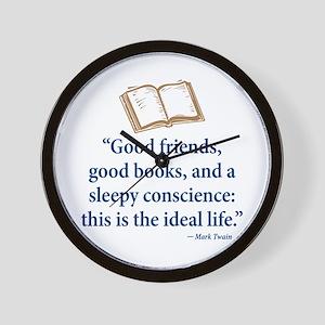 Good Friends, Good Books - Wall Clock