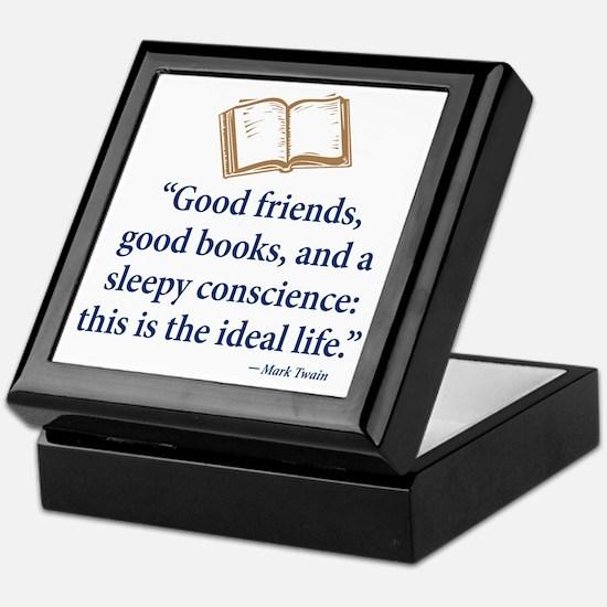 Good Friends, Good Books - Keepsake Box