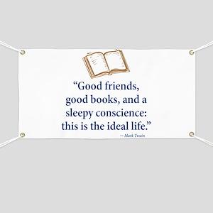 Good Friends, Good Books - Banner