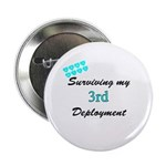 ARMY Wife Surviving 3rd Deployment Button