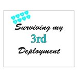 ARMY Wife Surviving 3rd Deployment Small Poster