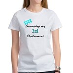 ARMY Wife Surviving 3rd Deployment Women's T-Shir
