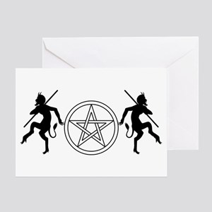 Pentacle Pan Greeting Cards