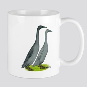 Runner Ducks Blue Mugs