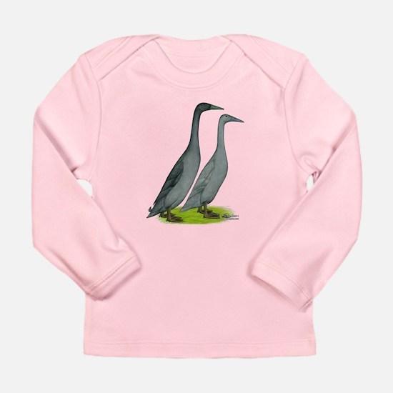 Runner Ducks Blue Long Sleeve T-Shirt