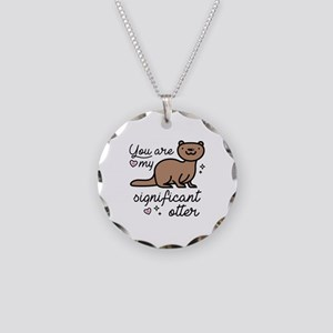 You Are My Significant Otter Necklace Circle Charm