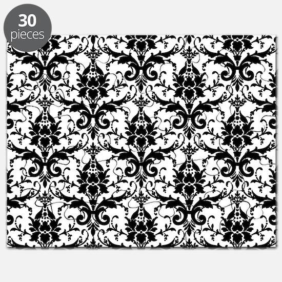 Black and White Damask Puzzle