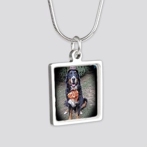 Halloween Victorian BMD Silver Square Necklace