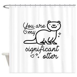 Animal Otters Shower Curtains