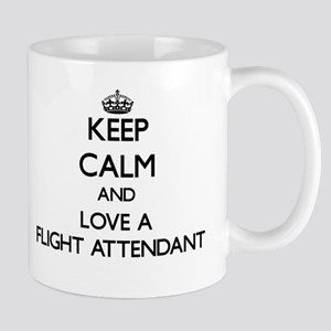 Keep Calm and Love a Flight Attendant Mugs