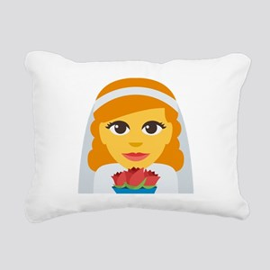 Bride With Veil Emoji Rectangular Canvas Pillow