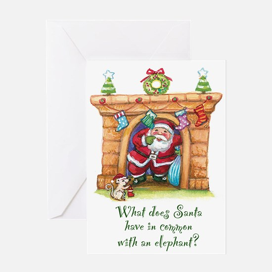 Santa Fears Greeting Cards