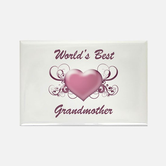 World's Best Grandmother (Heart) Rectangle Magnet