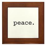 peace. Framed Tile