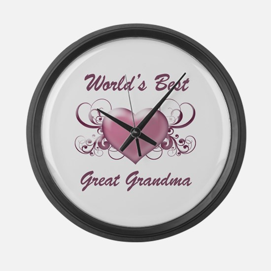 World's Best Great Grandmother (Heart) Large Wall